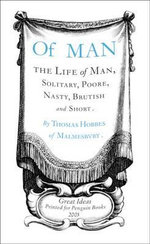 Penguin Books Great Ideas: Of Man :  Of Man - Thomas Hobbes
