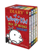 Diary of a Wimpy Kid Box of Books (1-4) : Diary of a Wimpy Kid, Rodrick Rules, The Last Straw, Dog Days - Jeff Kinney