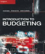 Introduction to Budgeting - Colin Bear