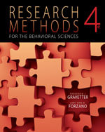 Bundle : Research Methods for the Behavioral Sciences + Aplia Notification Card - Frederick J. Gravetter