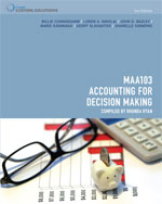 Bundle : CP0882 MAA103 - Accounting for Decision Making + Aplia Notification Card - Billie Cunningham