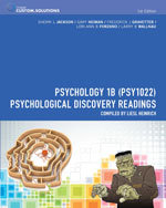 Bundle : CP0912: Psychology 1B (PSY1022): Psychological Discovery Readings + Aplia Notification Card - Sherri L. Jackson