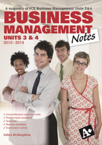 Business Management Notes VCE Units 3 and 4 - Debra McNaughton