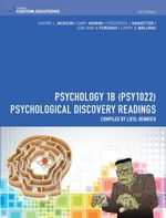 CP0912 : Psychology 1B (PSY1022): Psychological Discovery Readings - Sherri L. Jackson