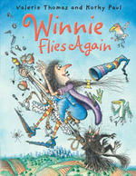 Winnie Flies Again (Paperback and CD) : Winnie The Witch - Valerie Thomas