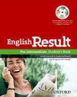 English Result Pre-intermediate: Student's Book with DVD Pack : General English Four-skills Course for Adults - Mark Hancock