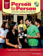 Person to Person : Student Book (with Student Audio CD) Level 2 - Jack C Richards
