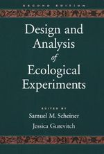 Design and Analysis of Ecological Experiments - Samuel M. Scheiner