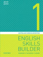 English Skills Builder 1 : Australian Curriculum Edition - Student Book + obook/assess - Mary Manning