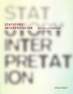 Statutory Interpretation : 1st Edition - Michelle Sanson