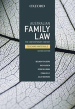 Australian Family Law : The Contemporary Context Teaching Materials - Belinda Fehlberg