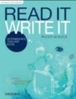 Read It Write It Intermediate Australasia Teacher Book - Kathy Shiels