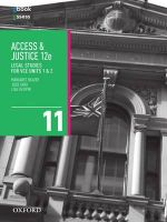 Access and Justice VCE Legal Studies Units 1 & 2 Student Book + obook/assess - Margaret Beazer