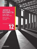 Justice and Outcomes VCE Legal Studies Unit 3 & 4 Student Book + obook/assess - Margaret Beazer
