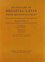 Dictionary of Medieval Latin from British Sources : O Fascicule 8