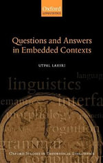 Questions and Answers in Embedded Contexts - Utpal Lahiri