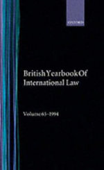 The British Year Book of International Law 1994 : v.65