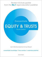 Equity & Trusts Concentrate : Law Revision and Study Guide - Iain McDonald