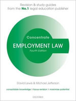 Employment Law Concentrate : Law Revision and Study Guide - Michael Jefferson