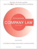 Company Law Concentrate : Law Revision and Study Guide - Lee Roach