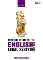 Introduction to the English Legal System 2014-2015 - Martin Partington