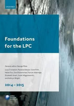 Foundations for the LPC 2014-15 - George Miles