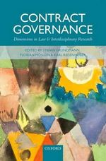 Contract Governance : Dimensions in Law and Interdisciplinary Research
