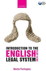 Introduction to the English Legal System 2015-2016 - Martin Partington