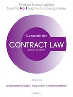 Contract Law Concentrate : Law Revision and Study Guide - Jill Poole