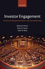Investor Engagement : Investors and Management Practice Under Shareholder Value - Roderick Martin