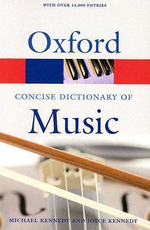The Concise Oxford Dictionary of Music : Oxford Paperback Reference
