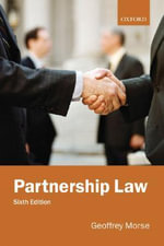 Partnership Law : US and European Perspectives - Geoffrey Morse