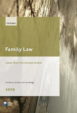 Family Law 2009 : LPC Guide - Tina Bond