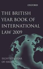 British Year Book of International Law 2009 : v. 80