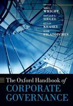 The Oxford Handbook of Corporate Governance : Effective Governance for Non-profit Organisations
