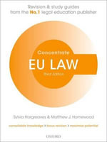 EU Law Concentrate : Law Revision and Study Guide - Sylvia Hargreaves