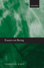 Essays on Being - Charles H. Kahn