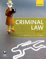 Criminal Law : The Socio-Cultural Origins of Law, Transgression a... - Claire de Than