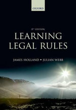 Learning Legal Rules - James A. Holland