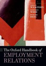 The Oxford Handbook of Employment Relations : Comparative Employment Systems