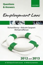 Q & A Revision Guide : Employment Law 2012/2013 - Richard Benny