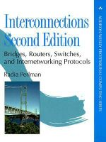Interconnections : Bridges and Routers - Radia Perlman