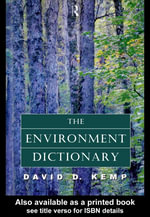 The Environment Dictionary - David Kemp