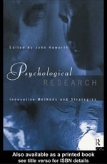 Psychological Research : Innovative Methods and Strategies - John Haworth