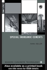 Special Inorganic Cements - Ivan Odler