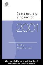 Contemporary Ergonomics 2001 - Margaret Hanson