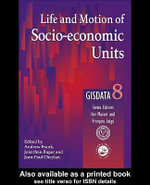 Life and Motion of Socio-Economic Units : Gisdata Volume 8 - Andrew Frank