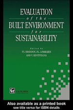 Evaluation of the Built Environment for Sustainability - Vicenzo Bentivegna