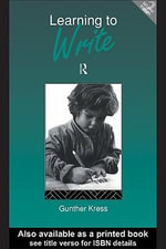 Learning to Write : Second Edition - Gunther Kress