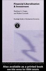 Financial Liberalization and Investment - Kanhaya Gupta